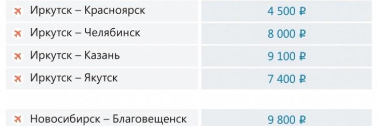 Распродажа авиабилетов от 5000 рублей из Иркутска и Новосибирска Авиакомпания Ангара Распродажа авиабилетов от 5000 рублей из Иркутска и Новосибирска